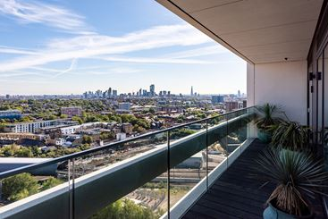 The Show Home Balcony, XY Air Apartments, The Camden Collection