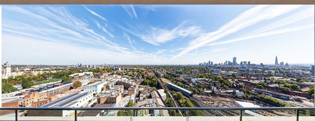 The Show Home Balcony View, XY Air Apartments, The Camden Collection